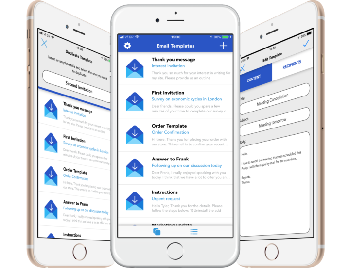 email templates app