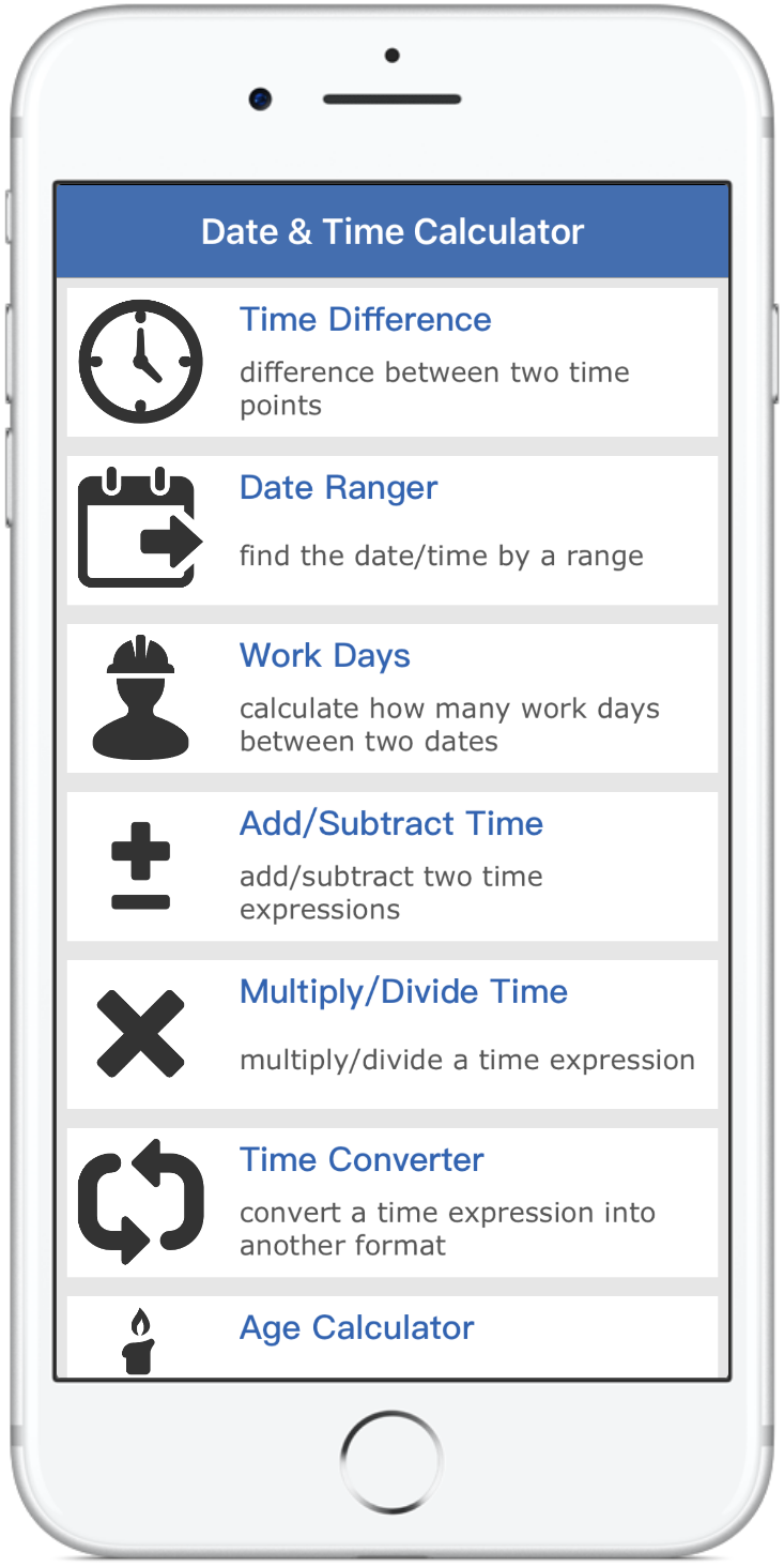 Date & Time Calculator - Thomas Tsopanakis Apps